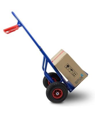 Reguliuojamo aukščio rankinis sandėlio vežimėlis